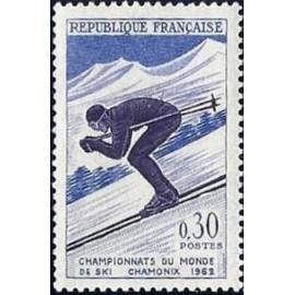 France Yvert Num 1326 ** Chamonix Ski  1962