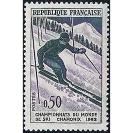 France Yvert Num 1327 ** Chamonix Ski  1962