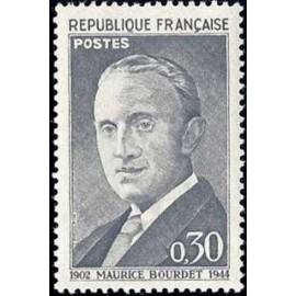 France Yvert Num 1329 ** Maurice Bourdet  1962