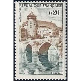 France Yvert Num 1330 ** Laval Pont  1962