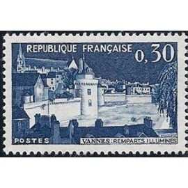 France Yvert Num 1333 ** Vannes  1962