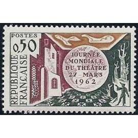 France Yvert Num 1334 ** Theatre  1962