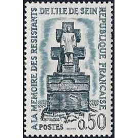 France Yvert Num 1337 ** Resistance  1962