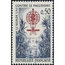 France Yvert Num 1338 ** Paludisme  1962