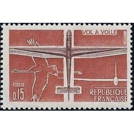 France Yvert Num 1340 ** Avion  1962