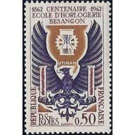 France Yvert Num 1342 ** Besançon  1962