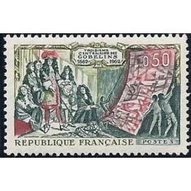 France Yvert Num 1343 ** Manufacture Gobelins  1962