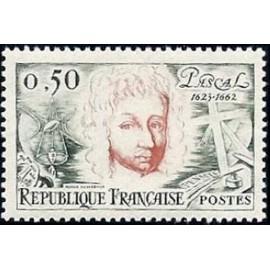 France Yvert Num 1344 ** Blaise Pascal  1962