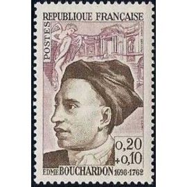France Yvert Num 1346 ** Edmé Bouchardon  1962