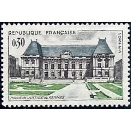 France Yvert Num 1351 ** Rennes  1962