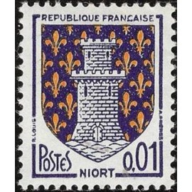 France Yvert Num 1351A ** Armoiries Niort 1962