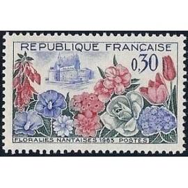 France Yvert Num 1369 ** Floralies nantaises  1963
