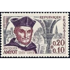 France Yvert Num 1370 ** Jacques Amyot  1963