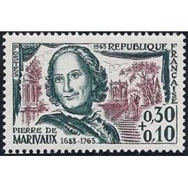 France Yvert Num 1372 ** Pierre de Marivaux  1963