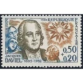 France Yvert Num 1374 ** Jacques Daviel  1963