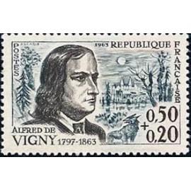 France Yvert Num 1375 ** Alfred de Vigny  1963