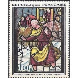 France Yvert Num 1377 ** Tableau Vitrail  1963