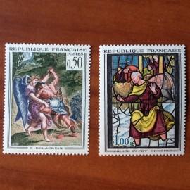France Yvert Num 1376-1377 ** Tableau   1963