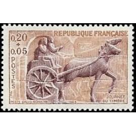 France Yvert Num 1378 ** Journee du timbre  1963
