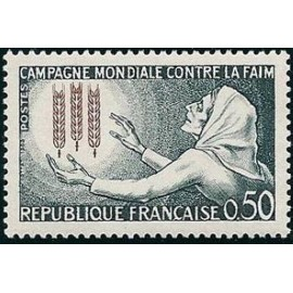 France Yvert Num 1379 ** Contre la Faim  1963