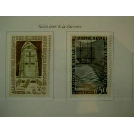 France Yvert Num 1380-1381 ** Resistance  1963