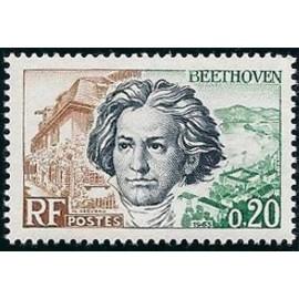 France Yvert Num 1382 ** Beethoven  1963