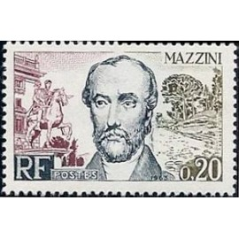 France Yvert Num 1384 ** F Mazzini  1963