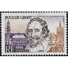 France Yvert Num 1386 ** Hugo de Groot  1963