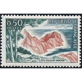 France Yvert Num 1391 ** Cote d' Azur  1963