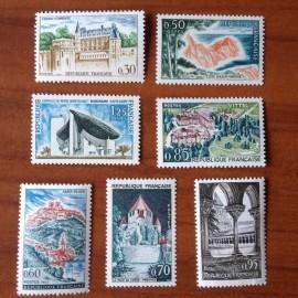 France Yvert Num 1390-1394A ** Série Touristique  1963
