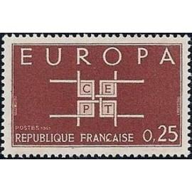 France Yvert Num 1396 ** Europa  1963