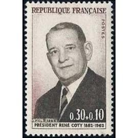 France Yvert Num 1412 ** Rene Coty President  1964