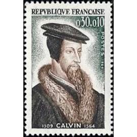 France Yvert Num 1420 ** Jean Calvin  1964
