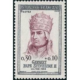 France Yvert Num 1421 ** Pape Gerbert  1964