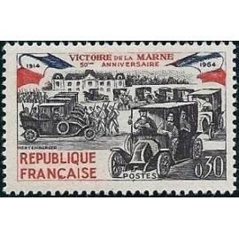 France Yvert Num 1429 ** Victoire de la Marne  1964