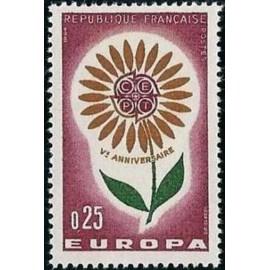 France Yvert Num 1430 ** Europa  1964
