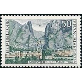 France Yvert Num 1436 ** Moustiers Sainte Marie  1965