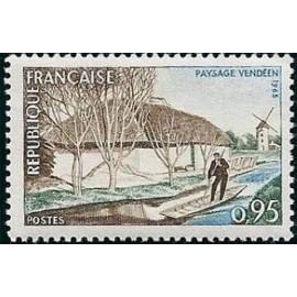 France Yvert Num 1439 ** Paysage de Vendée  1965
