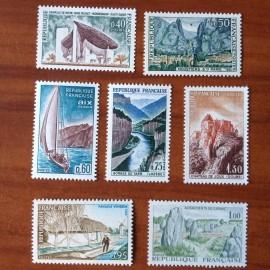 France Yvert Num 1435-1441 ** Serie touristique  1965