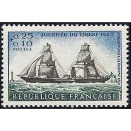 France Yvert Num 1446 ** Journee du timbre  1965