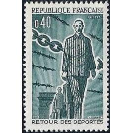 France Yvert Num 1447 ** Déportés  1965