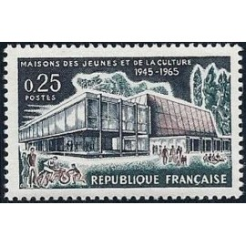 France Yvert Num 1448 ** MJC  1965