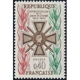 France Yvert Num 1452 ** Croix de Guerre  1965