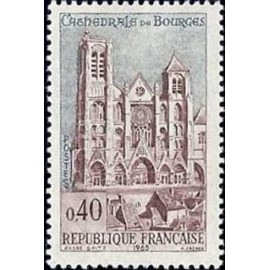 France Yvert Num 1453 ** Cathedrales de Bourges  1965