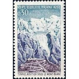 France Yvert Num 1454 ** Mont Blanc  1965