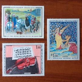 France Yvert Num 1457-1459 ** Tableau   1965