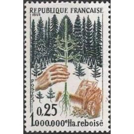 France Yvert Num 1460 ** Arbre  1965