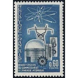 France Yvert Num 1462 ** Atome  1965