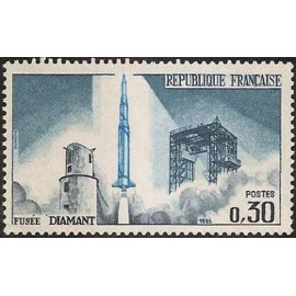 France Yvert Num 1464 ** Satellite  1965