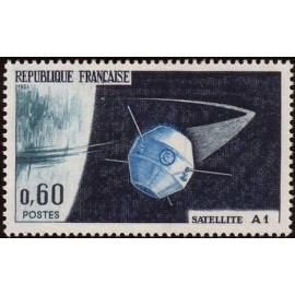 France Yvert Num 1465 ** Satellite  1965